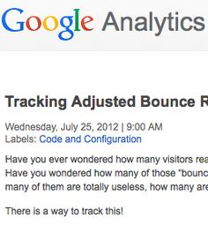 How to track adjusted bounce rate in Google Analytics