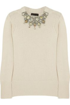 crystal embellished cashmere sweater // Burberry Prorsum