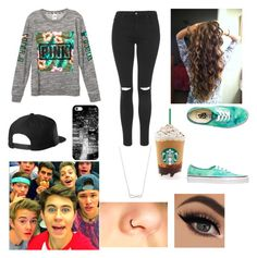 """""""Magcon"""" by srcalderon on Polyvore featuring Topshop, Vans and Casetify"""