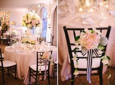 Black, White & Blush Wedding by Strawberry Milk Events. Photos by: Jodi Miller Photography