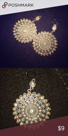 Charlotte Russe earrings These earrings are in great condition and we're only worn once to a wedding. They are just a little heavy for my ears. Charlotte Russe Jewelry Earrings