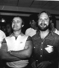 DJ JJ Michaels of Desert Music Entertainment with Phil Collins during JJ's time working in rock radio in the Philadelphia area.