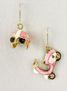 Vespa and helmet earrings