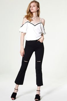Arielle Cutout Bootcut Jeans Discover the latest fashion trends online at storets.com