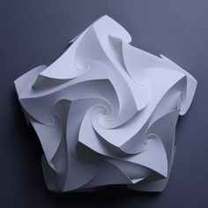 Dome made of 5 pieces of S-shaped Crease fold units t=0.2 mm paper, 180 x 180 x 50 mm