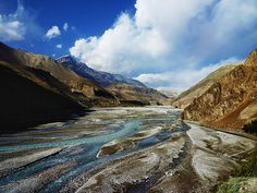 Along the Kali Gandaki river, Old Kagbeni village, Mustang. Nepal.