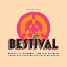 "I love the colours that have been used in this festival poster, the bright pink and orange are toned down by the pale creamy background. I like the 3D effect typeface and the ""hippy"" style"