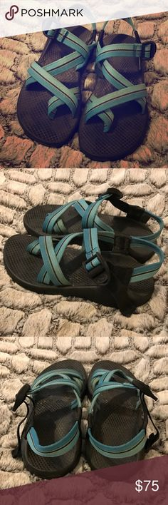 Women's Chacos Women's Chacos - Blue/Yellow - Z2 Style - W6 - EUC - I wash my Chacos in the dishwasher, a quick wash and these will look brand new! Lightly worn, lots of life left! Chacos Shoes Sandals