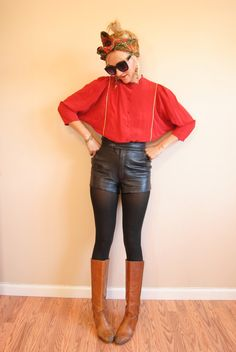 Vintage batwing top, red silk batwing blouse, angel wing top, XS/S on Etsy, $32.00