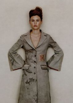 Wonderful coat by German designer, Christine Mayer.