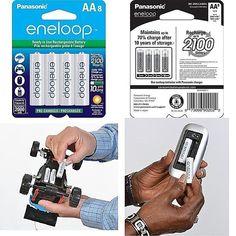 Aa Eneloop-Panasonic Rechargeable Batteries Aa 2100 Cycle Ni-Mh 8 Pack 2000Mah  #Panasonic Garden, Ebay, Garten, Gardens, Tuin, Yard