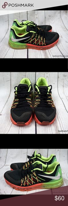 Nike Air Max 2015 Black Orange / Volt Size 9.5 Nike Air Max 2015 in the Black / Orange / Volt Colorway. A pretty rare and hard to find color after is all is said and done for the Air Max 2015. Shoes have been worn but has always been well cared for. Please check at all the detailed photos to see the entire shoe. The Air pockets are in good shape and are in great shape and not damaged or popped. 5 Star Feedback please purchase with confidence. All orders are shipped in 24 hours or less from a…