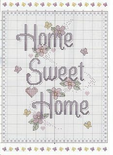 natty's cross stitch corner: Home Sweet Home Sign