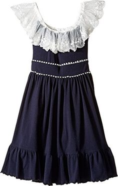 fiveloaves twofish Girls Leilani Dress Little KidsBig Kids Navy Dress *** You can find out more details at the link of the image.Note:It is affiliate link to Amazon.