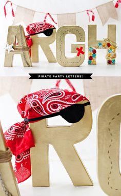 Pirate Party Decorations - Paper Mache Letters