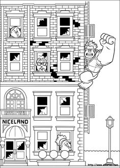 Coloring sheet based on the movie 'wreck it Ralph' From the gallery : Back To Childhood