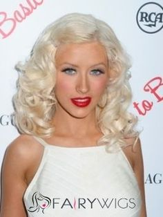 Ingenious Medium Blonde Female Wavy Celebrity Hairstyle 14 Inch Celebrity Hairstyles, Wig Hairstyles, Short Human Hair Wigs, Medium Blonde, Christina Aguilera, American Singers, Celebrity Pictures, Short Hair Styles, Actresses