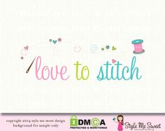 love to stitch premade logo