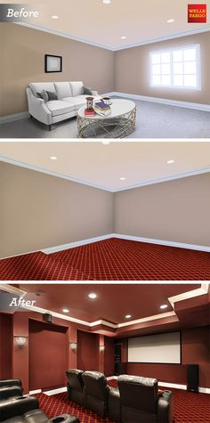 Got a spare room in need of a makeover? Repurpose it with a home theater renovation and learn how a home equity line of credit from Wells Fargo can help make your room makeover a reality.