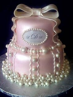 Pink and Pearl Cake