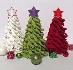 Crochet Christmas Tree Pattern Decoration Ornament. Amigurumi. New Year pattern. Home Decoration.. $4,50, via Etsy.
