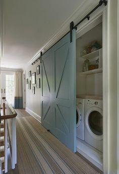 44 Inspiring Small Laundry Room Design Ideas - Modul Home Design Laundry Room Layouts, Small Laundry Rooms, Laundry Closet, Laundry Room Organization, Laundry Storage, Laundry Room Design, Closet Storage, Organization Ideas, Storage Ideas