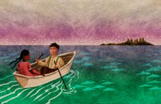 Illustration for Lizzie Bright & the Buckminster Boy published by McGraw-Hill in 2012