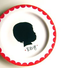 Custom Silhouette Small Plate- Personalized