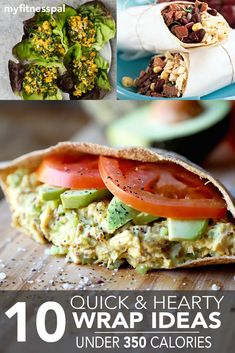 Save this! 10 quick, hearty, and DELICIOUS wrap ideas!