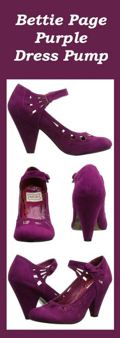 LOVELY PURPLE EVERLY PUMPS BY BETTIE PAGE!!!