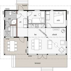 Cabin Floor Plans, Beach Cottage Style, Small House Plans, Beach Cottages, Tiny House, Kitchen Design, Sweet Home, House Design, How To Plan