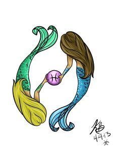 Pisces Mermaid Art tattoo