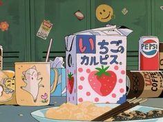 anime, food, and strawberry image