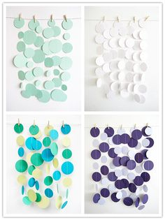 I like these on a much larger scale...maybe a backdrop for a Tiffany blue themed bridal shower