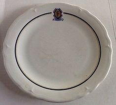 """Famed Fontainebleau Motor Hotel New Orleans 10"""" Plate Shenango 1967 USA Made Restaurant Ware Sold $26.89"""