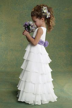 New Arrival Flower Girl Dresses A Line Scoop Floor Length Chiffon AUD 100.89 EPPC8P2PN4 - ElleProm.com