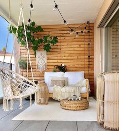 70 super Ideas for boho patio decor hanging plants Balkon Design, String Lights Outdoor, Home Decor Inspiration, Decor Ideas, Decorating Ideas, Sunroom Decorating, Apartment Balcony Decorating, Style Inspiration, Bohemian Decor