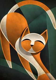 ==> Link in bio to learn about a great wire organization solution. Cubist Art, Abstract Art, Cubist Paintings, Cat Drawing, Painting & Drawing, Arte Pop, Cat Art, Modern Art, Art Projects