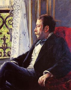 Portrait of a Man, Gustave Caillebotte. French Impressionist Painter (1848-1894)