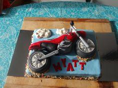 Dirt Bike Birthday Cake