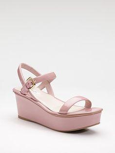 Spring 2012 - Prada  Patent Leather Platform Sandals
