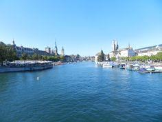 Zürich: Blick aufs Grossmünster San Francisco Skyline, Travel, Switzerland, Trips, Viajes, Traveling, Tourism, Outdoor Travel, Vacations