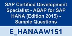 SAP Certified Development Specialist - ABAP for SAP HANA (Edition 2015)  , SAP HANA Tutorial, Material and Certification Guide