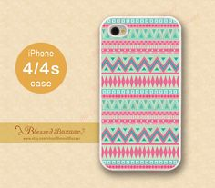 Aztec iPhone 4 Case, iPhone 4s Case, iPhone 4 Hard Plastic/ soft rubber Case,Personalized iPhone Case,water proof ,Friendship on Etsy, $8.99