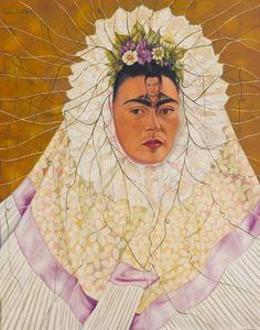 Frida Kahlo's 1943 self-portrait 'Diego on My Mind' is part of an exhibition at the NSU Art Museum Fort Lauderdale.