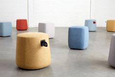 Grab a Pouf and have a seat. The Kona Pouf's integrated handle and lightweight construction make it perfect for any space that needs flexible seating options. Its versatility provides a variety of uses and works well in any environment. Fire Pit Table And Chairs, Toddler Table And Chairs, Chair Design, Furniture Design, Small Accent Chairs, Contract Furniture, Lounge Seating, Pouf Ottoman, Furniture Upholstery