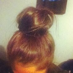 Today's Hairstyle: Messy Sock Bun!  #Hairstyle #Hair #Messy #Sock #Bun Today's Hairstyle: Messy Sock Bun!  #Hairstyle #Hair #Messy #Sock #Bun