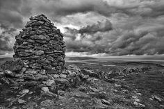 The Burren County Galway Ireland Photograph by David Poland Galway Ireland, Emerald Isle, Luck Of The Irish, Poland, Photo Galleries, Sky, Black And White, Gallery, Artwork