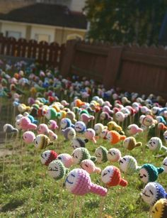 Someone please knit thousands of these with me and put them in people's yard!!