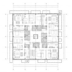 Hospital interior design, floor plan and layout Psychiatry